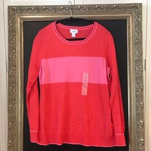 NWT old navy pink stripe sweater size large